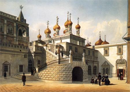 Фрагмент акварели начала XIX века