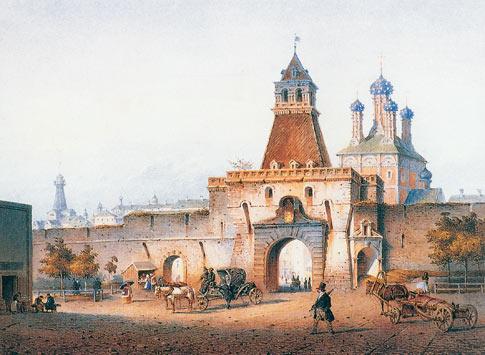 Ильинские ворота. 1852 год