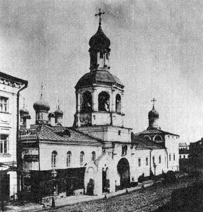 Вид Сретенского монастыря, 1881 год